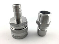 """Stainless Female Quick Disconnect Set, Homebrew Fitting, 1/2""""BSP"""