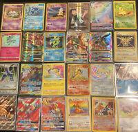 Pokemon Card Lot 100 OFFICIAL TCG Cards Ultra Rare - GX EX MEGA + HOLOS -1st Edi
