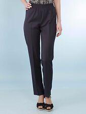 DAXON womans BLACK petit length cropped elasticated waist trousers UK 32 EU 60