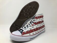 Converse CTAS Hi Top Studded USA Flag Red White Blue Sneakers Men's 10.5 160994C