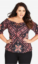 CITY CHIC XS 14 NWT RRP $79.95 ROAD TRIP FLORAL
