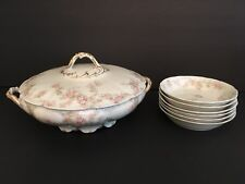 Vintage Limoges Haviland CH Field GDA France Casserole Covered Dish with 6 Bowls