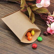 50stk Kraftpapier Geschenkbox Geschenkschachtel für Taschen Cupcake -Braun Neu