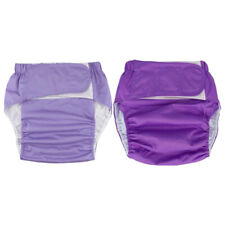 2 Pieces Reusable Adult Cloth Diaper Urinary Incontinence Briefs for Adult