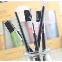 Eyebrow Eyelash Dual-Comb Extension Brush Comb Cosmetic Makeup Tool HF