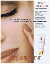 PUBLICiTE ADVERTISING 094 1999 YVES SAINT LAURENT  voile fondant          300914