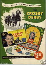 1947 PAPER AD 2 Sided The Bing Crosby Derby Board Game Horse Race