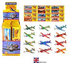 JET FIGHTER GLIDER PLANES Kids Birthday Party Bag Favor Pinata Filler Toy Lot UK