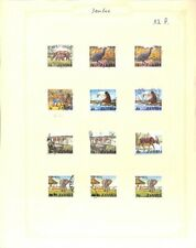 [OP3778] Zambia lot of stamps on 12 pages