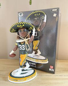 """AARON JONES Green Bay Packers """"Game Day Sombrero"""" Rookie EXCLUSIVE Bobblehead"""