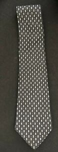 Polo Ralph Lauren Vintage Tie Circa 1990 Dark Navy/Black w/ Purple Dots & Gray