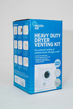 Heavy Duty Clothes Dryer Venting Kit - Through Wall