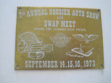 1973 7th Annual Hoosier Auto Show Swap- Indianapolis 500 Track Metal Dash Plate