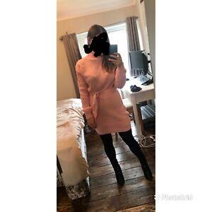 femme luxe pink roll neck jumper dress