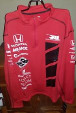 Rahal Letterman Lanigan Honda Racing Unisex Grid Quarter Zip Pullover NWT Size M