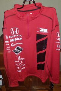 Rahal Letterman Lanigan Honda Racing Unisex Grid Quarter Zip Pullover NWT Size S