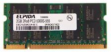 Elpida 2GB PC2-5300S DDR2 SODIMM EBE21UE8ACUA-6E-E