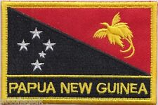 Papua New Guinea Flag Embroidered Patch Badge - Sew or Iron on