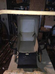 Vintage baby doll buggy carraige  stroller wheels Best&Co Silver Cross