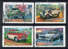 AUSTRALIA = 1997 CLASSIC CARS SELF-ADHESIVE SET/4. Fine Used.