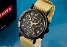2017 NEW MENS TIMEX VINTAGE MILITARY AVIATOR TYPE CHRONOGRAPH WATCH