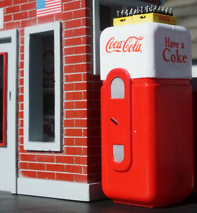Coke Machine w Coke Cases 1/18 Scale Diorama Accessory Item