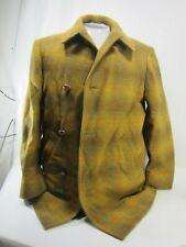 Vintage Pendelton Wool Men's Brown Plaid Coat