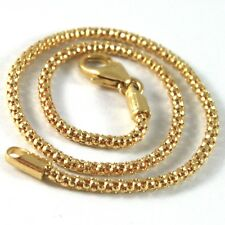SOLID 18K YELLOW GOLD BRACELET LITTLE BASKET ROUND LINK 2 MM WIDTH MADE IN ITALY