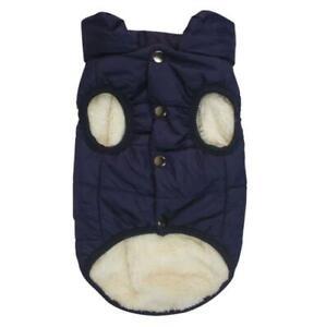 Pet Dog Clothes Warm Fleece Lined Waterproof Padded Jacket Vest Coat Winter