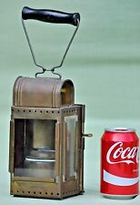 Vintage German Brass Carbide Acetylene Railway Railroad Hand Lantern Lamp
