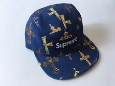SUPREME CROSSES CAP [S/S 2013] NAVY BLUE 5-PANEL CAMP HAT BLACK CAMO BOX LOGO