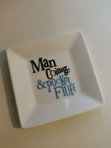 Man Coinage And Pocket Fluff Plate, Tray Trinket Men's Gift