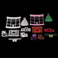Christmas window Framed Cutting Dies Stencil Scrapbook Paper Cards Craft DIY S!!