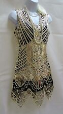 1920'S STYLE GATSBY VINTAGE CHARLESTON SEQUIN FLAPPER TUNIC DRESS 8 10 12 14 16