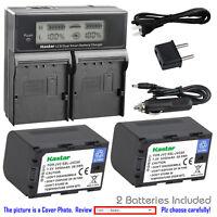 Battery, Charger for JVC SSL-JVC50 & JVC GY-HMQ10, GY-LS300, GY-HM200 Camcorder
