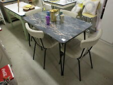 1960's Brody Tru-Chrome Dinette Set Table with 4 Chairs