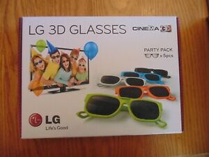 LG AG-F215 5 Pack of 3D Glasses for LG Cinema 3D TVs - Party Pack