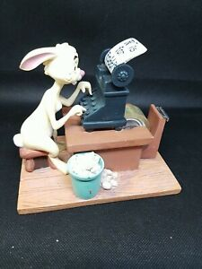 Disney Winnie The Pooh Desk Set Series Rabbit Tape Dispenser Office Figurine