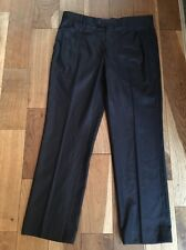 Next Ladies Dark Navy Blue Smart Tapered Slim Fit Trousers Size 34S New