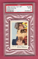 John Wayne Richard Widmark 1962  Dutch Film Star Card #CA94 PSA 9 MINT