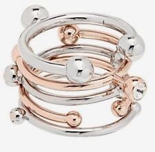 Mimco 💗New Atomica 2 X Rose Gold + 3 X Silver Ring Stack $129  + Dust Bag