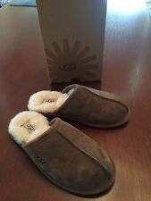 UGG/UGGS AUSTRALIA PEARLE SCUFF SUEDE SLIPPERS MEDIUM BROWN HARD SOLE 6