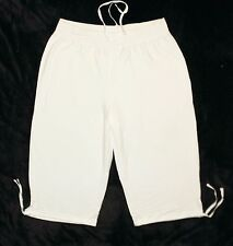 Plus JMS Just My Size French Terry Capri Pants White 2X NEW