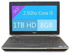 """Dell Latitude E6420 Laptop Win 10 Core i5 2.5Ghz 8GB RAM 1TB HD HDMI 14"""" WIFI"""