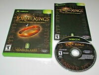 Lord of the Rings The Fellowship of the Ring Microsoft Xbox Complete CIB VG Game
