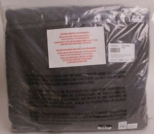 Pottery Barn PB Teen Classic Plain Weave large Beanbag slip cover, gray charcoal