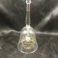 VIKING GLASS Clear 50th Anniversary Clear Glass Bell