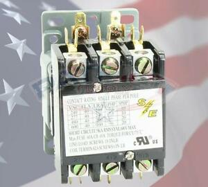 SMART ELECTRIC SE3707M 40 AMP 3 POLE CONTACTOR 24V COIL