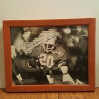 EARL CAMPBELL AUTOGRAPHED SIGNED 8X10 PHOTO TEXAS LONGHORNS Framed To his Coach