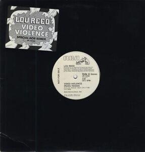 Lou Reed, Video Violence, NEW* Original U.S. PROMO 12 inch vinyl single